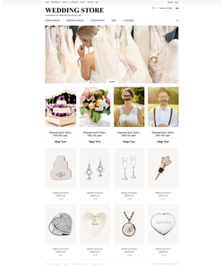 Zen Cart e-shop šablona na téma Svatby č. 52125