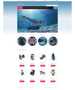 Zen Cart e-shop šablona na téma Sport č. 52126