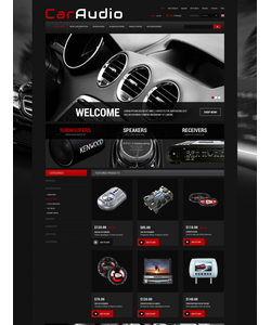 Zen Cart e-shop šablona na téma Auta č. 52436