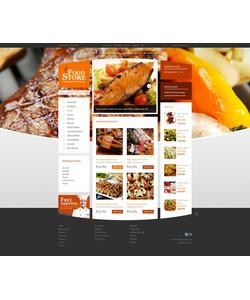 Zen Cart e-shop šablona na téma Jídlo a pití č. 52462