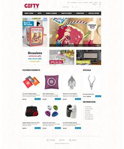 Zen Cart e-shop šablona na téma Dárky č. 52463