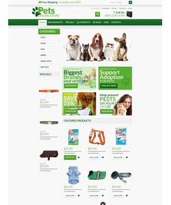 Zen Cart e-shop šablona na téma Zvířata č. 53363