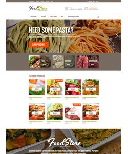 Zen Cart e-shop šablona na téma Jídlo a pití č. 53476