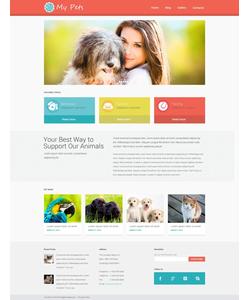 WordPress šablona na téma Zvířata č. 49464