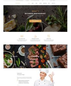 WordPress šablona na téma Café a restaurace č. 58952