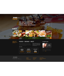 WordPress šablona na téma Café a restaurace č. 47533