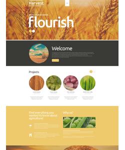 Joomla šablona na téma Zemědělství č. 52408