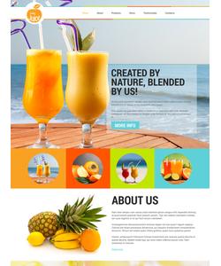 Joomla šablona na téma Jídlo a pití č. 52584
