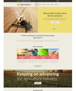 Joomla šablona na téma Zemědělství č. 54587
