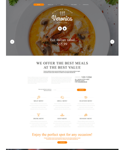 Joomla šablona na téma Café a restaurace č. 55591