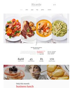 Joomla šablona na téma Café a restaurace č. 57574