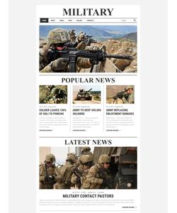 Joomla šablona na téma Vojenské č. 61136