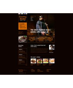 Flash CMS šablona na téma Café a restaurace č. 48125