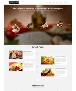 Joomla šablona na téma Café a restaurace č. 48542