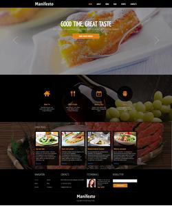 Joomla šablona na téma Café a restaurace č. 48802