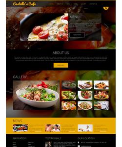 Joomla šablona na téma Café a restaurace č. 49096