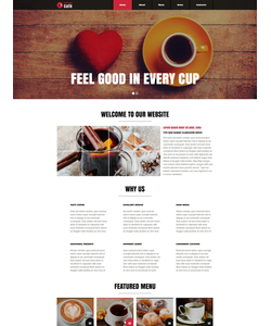 Joomla šablona na téma Café a restaurace č. 51135