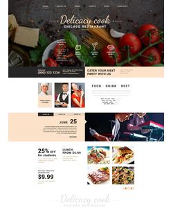 Joomla šablona na téma Café a restaurace č. 51745