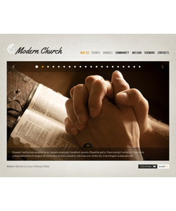 Flash CMS šablona na téma Náboženství č. 37747
