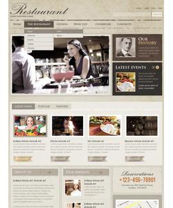Flash CMS šablona na téma Café a restaurace č. 38703