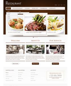Flash CMS šablona na téma Café a restaurace č. 40071