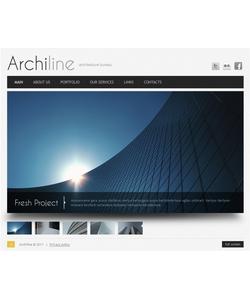 Flash CMS šablona na téma Architektura č. 40625