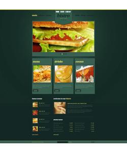 Flash CMS šablona na téma Café a restaurace č. 47141