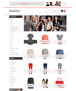 Magento e-shop šablona na téma Móda č. 47903