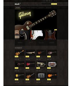 Magento e-shop šablona na téma Hudba č. 48507