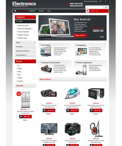 Magento e-shop šablona na téma Elektronika č. 48579