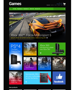 Magento e-shop šablona na téma Hry č. 48580