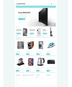 Magento e-shop šablona na téma Elektronika č. 48760