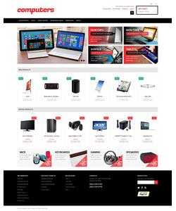 Magento e-shop šablona na téma Počítače č. 48819