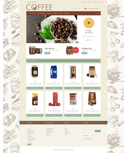 Magento e-shop šablona na téma Café a restaurace č. 48938