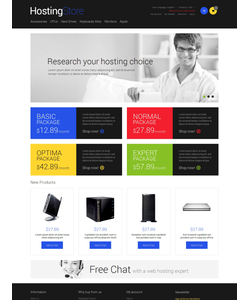 Magento e-shop šablona na téma Hosting č. 49059