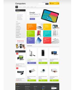 Magento e-shop šablona na téma Počítače č. 49367