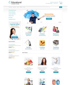 Magento e-shop šablona na téma Vzdělávání č. 50549