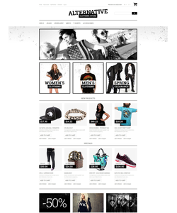 Magento e-shop šablona na téma Móda č. 50784