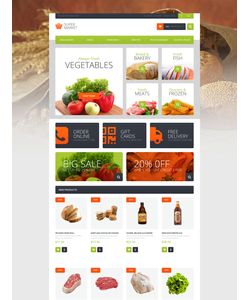 Magento e-shop šablona na téma Jídlo a pití č. 51119