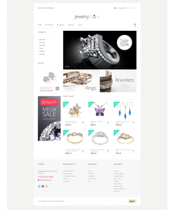 Magento e-shop šablona na téma Šperky č. 51276