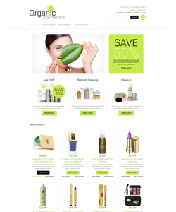 Magento e-shop šablona na téma Krása č. 51289