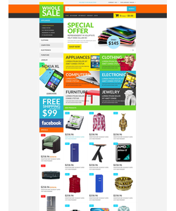 Magento e-shop šablona na téma Elektronika č. 51848