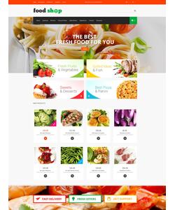 Magento e-shop šablona na téma Jídlo a pití č. 52192