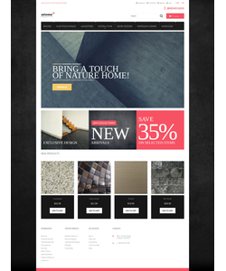 Magento e-shop šablona na téma Interiér a nábytek č. 52456