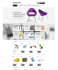Magento e-shop šablona na téma Interiér a nábytek č. 52645