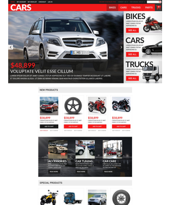 Magento e-shop šablona na téma Auta č. 52743