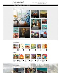 Magento e-shop šablona na téma Umění a fotografie č. 52963