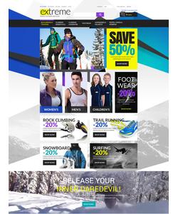Magento e-shop šablona na téma Sport č. 53046