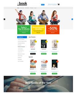 Magento e-shop šablona na téma Knihy č. 53173