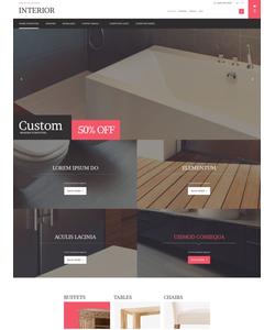 Magento e-shop šablona na téma Interiér a nábytek č. 53395